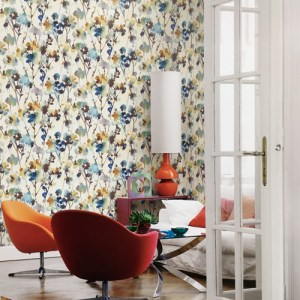 Seabrook Wallcoverings Lugano Faravel Wallpaper Roomset