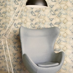 Seabrook Wallcoverings Lugano Kentmere Geo Wallpaper Roomset