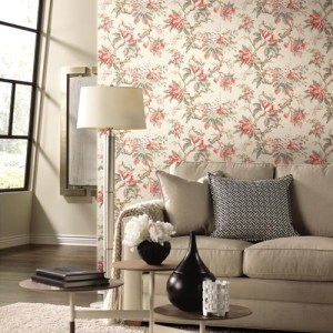 York Ronald Redding Legacy Vintage Garden Wallpaper Roomset