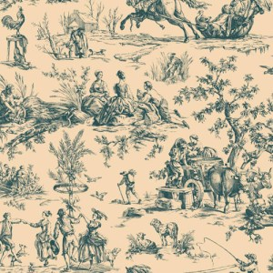 AF2004 York Wallcoverings Ashford Toiles Seasons Toile sure strip Wallpaper Cream