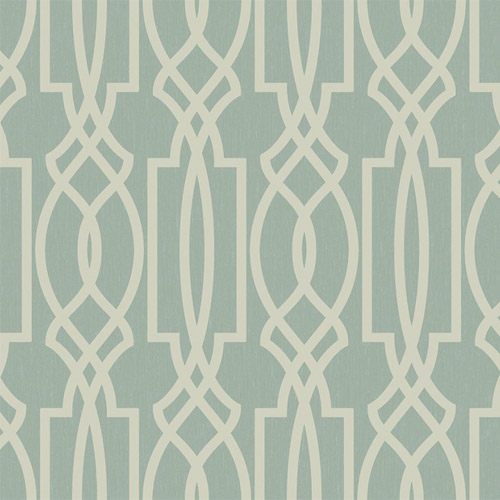 TR60004 Seabrook Wallcoverings Trois Iron Work Wallpaper Glacier