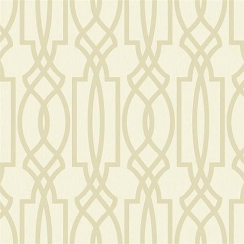 TR60013 Seabrook Wallcoverings Trois Iron Work Wallpaper Champagne