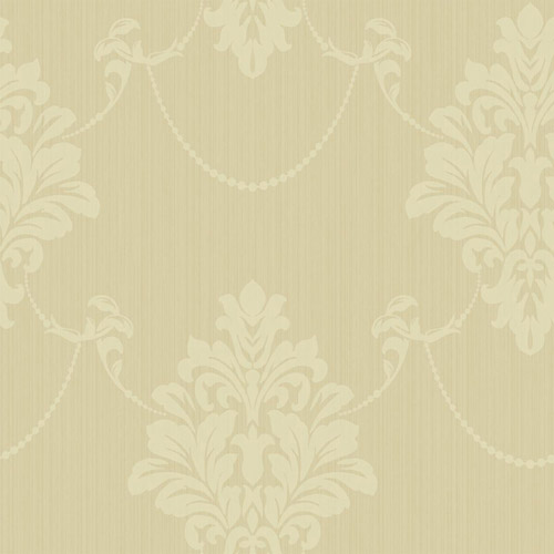 TR60305 Seabrook Wallcoverings Trois French Damask Wallpaper Alabaster