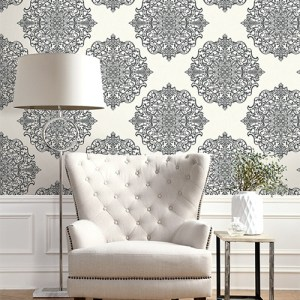 Seabrook Wallcoverings Trois Mandala Wallpaper Roomset