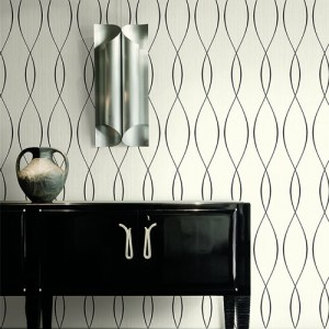 Seabrook Wallcoverings Trois Wavelength Wallpaper Roomset