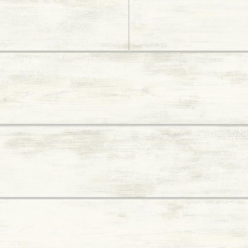 MH1560 York Wallcoverings Joanna Gaines Magnolia Home Shiplap Wallpaper White