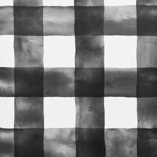 MH1516 York Wallcoverings Joanna Gaines Magnolia Home Buffalo Check Wallpaper Black and White