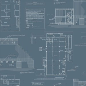 MH1537 York Wallcoverings Joanna Gaines Magnolia Home The Market Wallpaper Blue