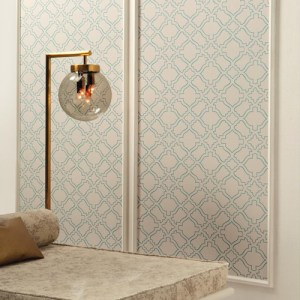 RRD7524 York Wallcoverings Ronald Redding Atelier Arabesque Wallpaper Roomset