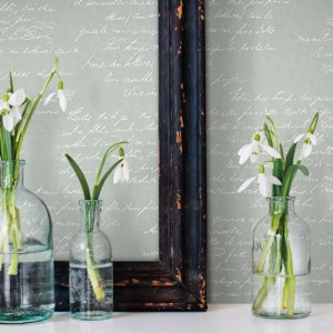 York Wallcoverings Joanna Gaines Magnolia Home Noteworthy Wallpaper Roomset