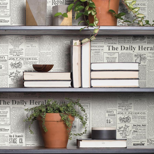 York Wallcoverings Joann Gaines Magnolia Home The Daily Wallpaper Closeup Roomset