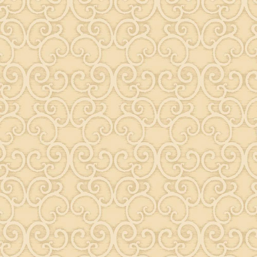 BD44302 York Wallcoverings Antonina Vella Mixed Metals Shadow Scroll Wallpaper Cream Gold