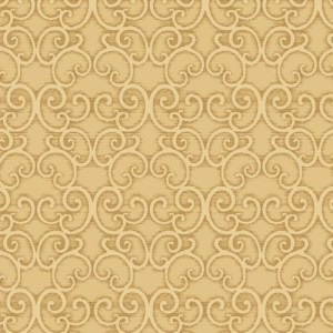 BD44304 York Wallcoverings Antonina Vella Mixed Metals Shadow Scroll Wallpaper Gold