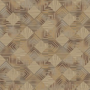 BD44505 York Wallcoverings Antonina Vella Mixed Metals Navajo Wallpaper Gray Mixed Metals