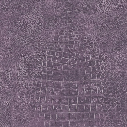 G67506 Patton Wallcoverings Natural FX Crocodile Skin Wallpaper Purple