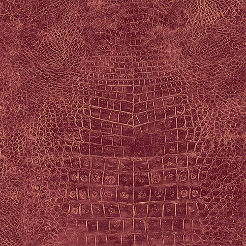 G67511 Patton Wallcoverings Natural FX Crocodile Skin Wallpaper Red