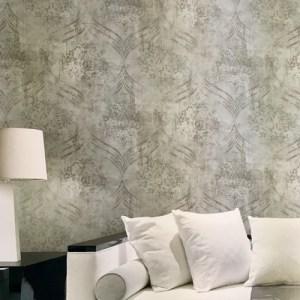 Seabrook Wallcoverings Metallika Brilliant Ogee Wallpaper Roomset