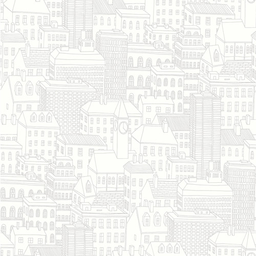 2716-23809 Brewster Wallcoverings Eclipse Limelight City Wallpaper Dove
