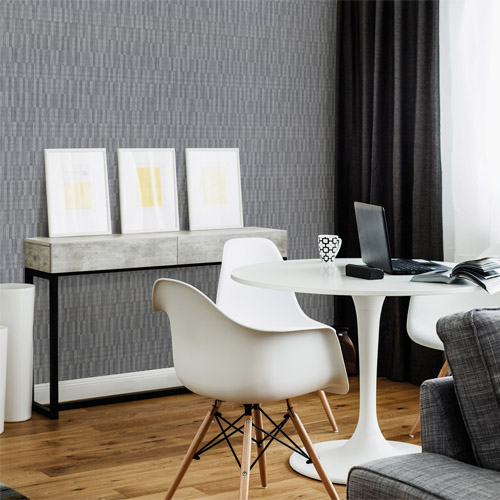 Brewster Wallcovering Texturall 3 Barie Vertical Tile Wallpaper Roomset