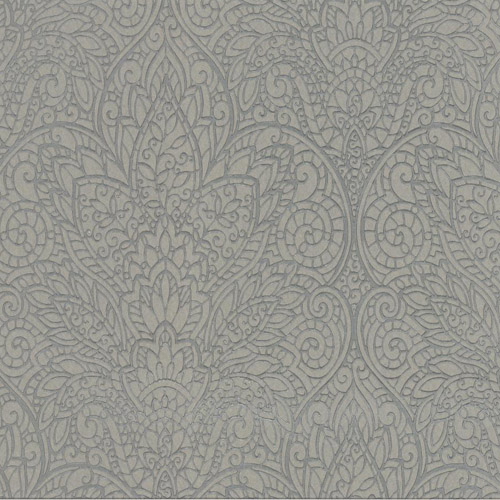 CD4012 York Wallcoverings Candice Olson Decadence Paradise Wallpaper Steel Gray
