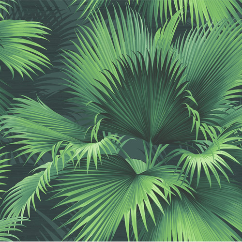 PS40104 Brewster Wallcoverings Kenneth James Palm Springs Endless Summer Wallpaper Dark Green