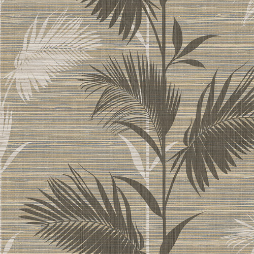 PS40306 Brewster Wallcoverings Kenneth James Palm Springs Away On Holiday Wallpaper Brown