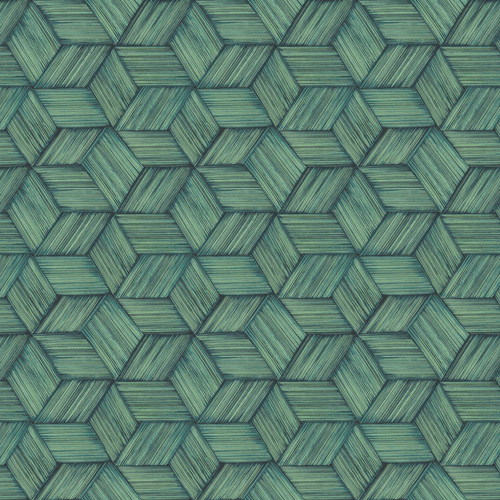PS41404 Brewster Wallcoverings Kenneth James Palm Springs Intertwined Wallpaper Dark Green