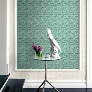 Brewster Wallcoverings Kenneth James Palm Springs Intertwined Wallpaper Roomset