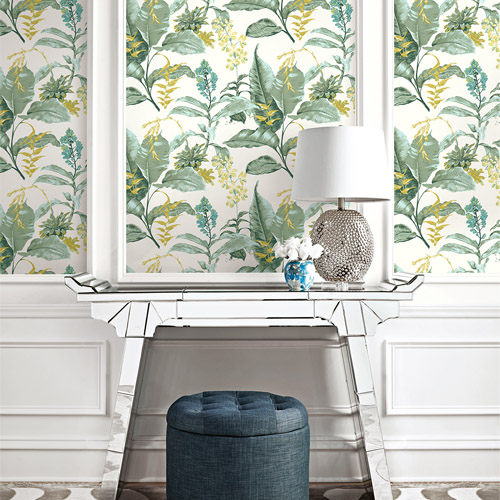 Brewster Wallcoverings Kenneth James Palm Springs Maui Wallpaper Roomset