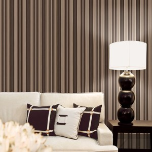 Patton Wallcoverings Stripes and Damasks 3 Modern Stripe Wallpaper Roomset