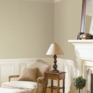 Patton Wallcoverings Stripes and Damasks 3 Miniature Damask Wallpaper Roomset