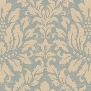 SD36141 Patton Wallcoverings Stripes and Damasks 3 Linen Acanthus Wallpaper Blue