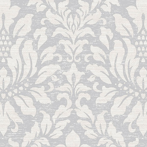 SD36143 Patton Wallcoverings Stripes and Damasks 3 Linen Acanthus Wallpaper Silver