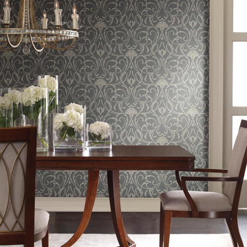 York Wallcoverings Candice Olson Decadence Amour Wallpaper Roomset