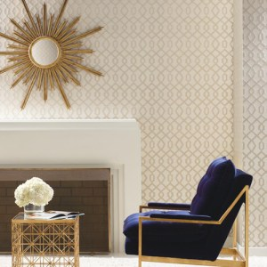 York Wallcoverings Candice Olson Decadence Luscious Wallpaper Roomset