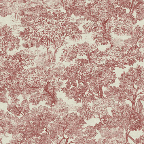 3112-002721 Brewster Wallcoverings Chesapeake Sage Hill Blyth Toile Wallpaper Red