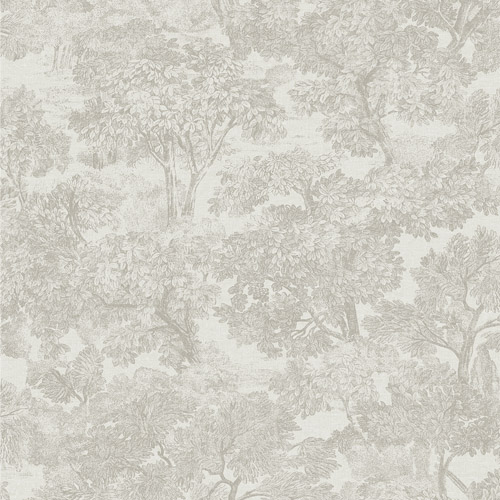 3112-002722 Brewster Wallcoverings Chesapeake Sage Hill Blyth Toile Wallpaper Grey