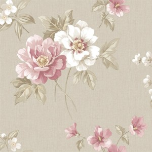 3112-002759 Keighley Floral Wallpaper Pink