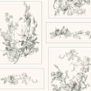 MH1543 York Wallcoverings Joanna Gaines Magnolia Home The Magnolia Wallpaper White