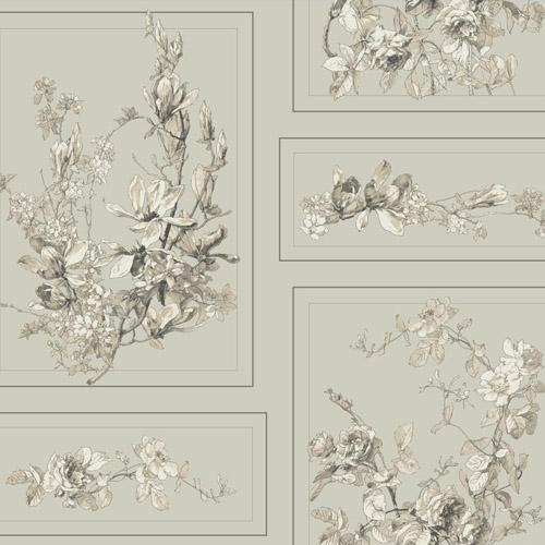 MH1544 York Wallcoverings Joanna Gaines Magnolia Home The Magnolia Wallpaper Gray