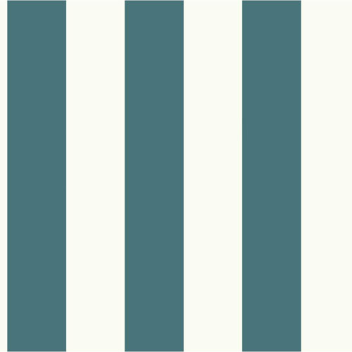 MH1589 York Wallcoverings Joanna Gaines Magnolia Home Awning Stripe Wallpaper Blue