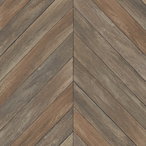2540-24006 Brewster Wallcoverings A Street Prints Restored Parisian Parquet Wallpaper Brown