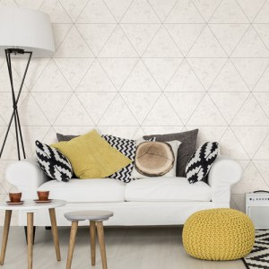 Brewster Wallcoverings A Street Prints Restored Polished Concrete Wallpaper Roomset
