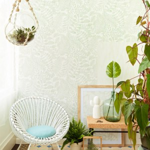 Brewster Wallcoverings Eijffinger Geonature Balth Botanical Wallpaper Roomset