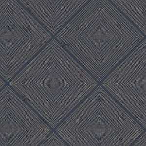 366021 Brewster Wallcoverings Eijffinger Geonature Aries Geometric Wallpaper Navy