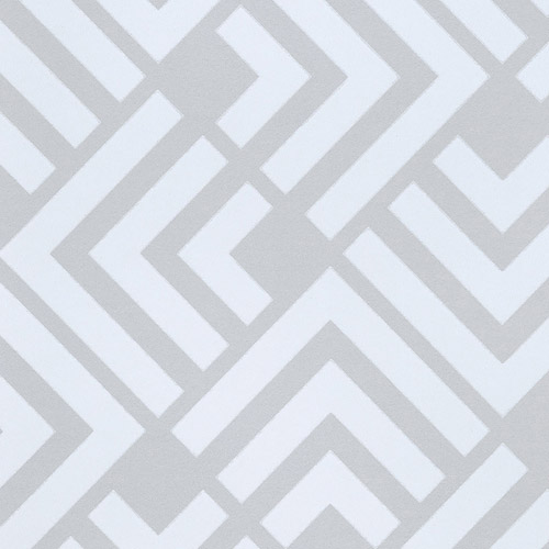 366044 Brewster Wallcoverings Eijffinger Geonature Zig Geometric Wallpaper Grey