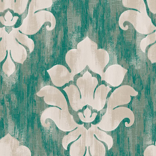 MC70104 Seabrook Wallcoverings Majorca Corsica Damask Wallpaper Turquoise