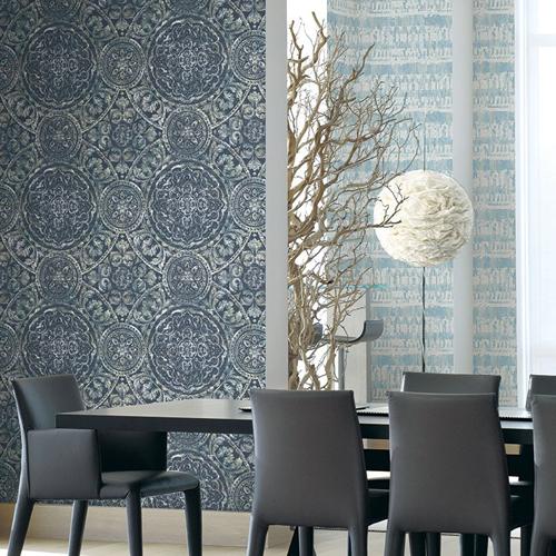 Seabrook Wallcoverings Majorca Ibiza Wallpaper Roomset