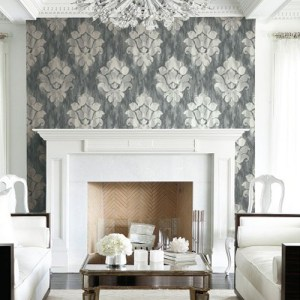 Seabrook Wallcoverings Majorca Corsica Damask Wallpaper Roomset