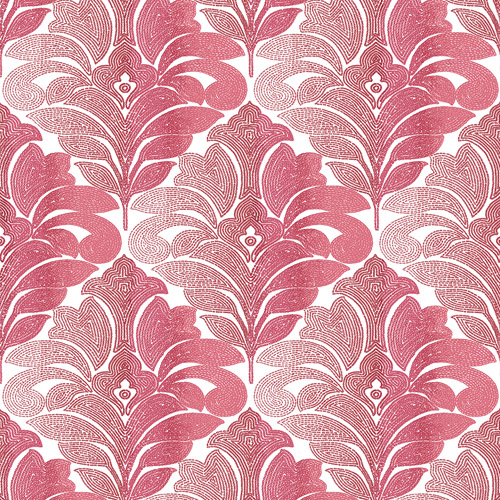 2744-24146 Brewster Wallcoverings Solstice Balangan Damask Wallpaper Red